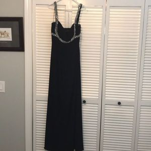 Black special occasion full length gown size 12